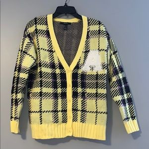 Plaid Varsity Sweater